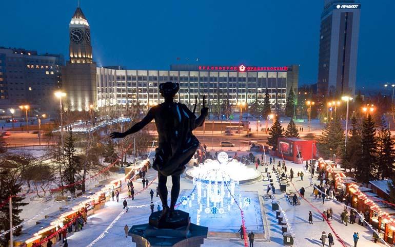 Театральная площадь Красноярск