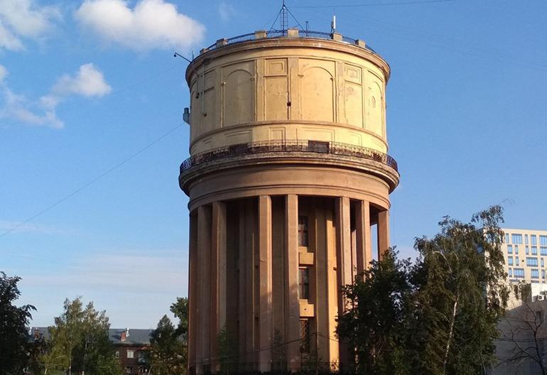 Водонапорная башня на площади Маркса Новосибирск