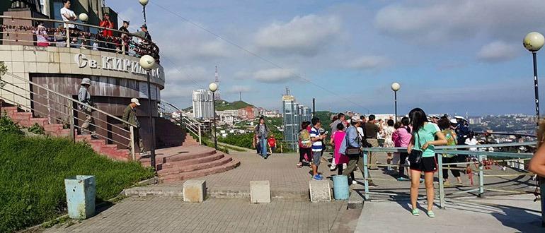 Смотровая площадка на сопке Орлиное гнездо Владивосток