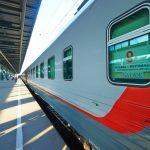 Фирменный поезд «Арктика» на вокзале