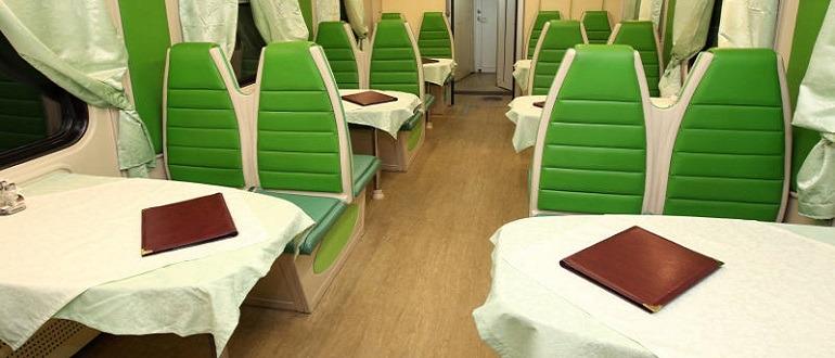 Фирменный поезд «Арктика». Вагон ресторан