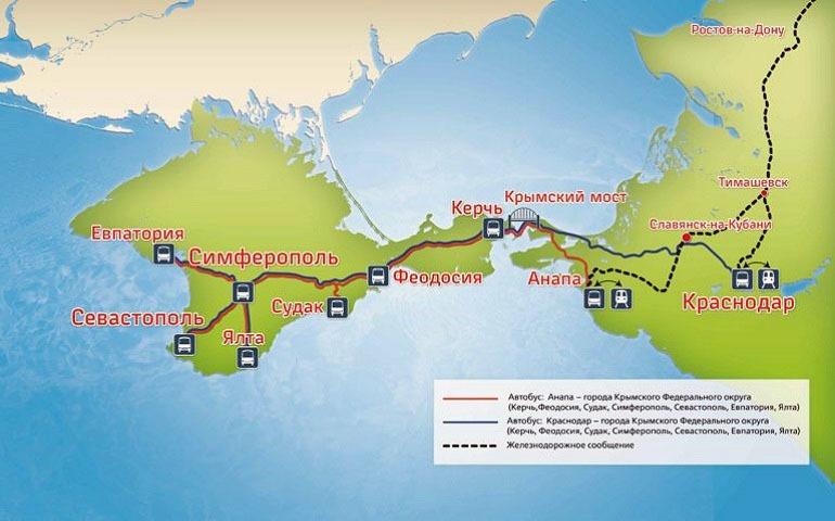 Как доехать из Москвы в Крым на поезде?