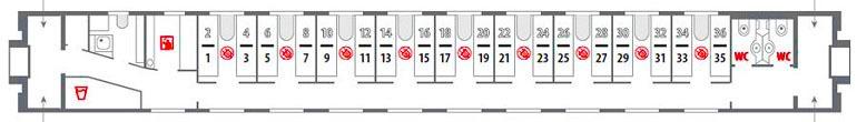 Схема стандартного купе