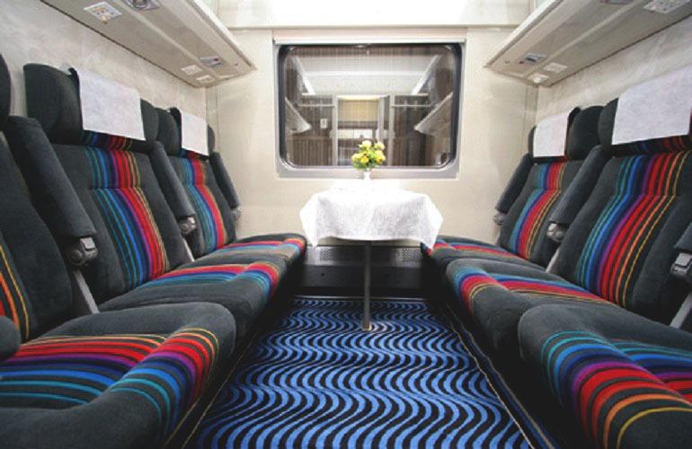 Поезд «Невский экспресс» фото внутри салона