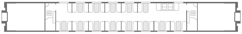 Схема вагона-ресторана 2 этаж