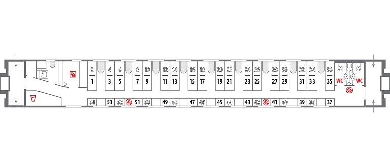 Сидячие места в поезде ржд схема фото 811