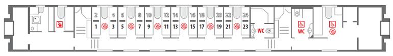 Схема штабного вагона 1 этаж