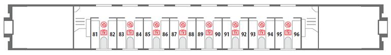 Схема вагона СВ 2 этаж