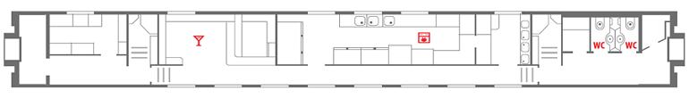 Схема вагона-ресторана 1 этаж